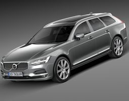 Volvo V90 Estate 2017 3D Model
