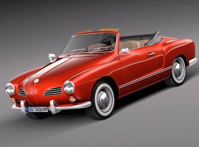 volkswagen karmann ghia cabrio 1955 1974 3d model max obj. Black Bedroom Furniture Sets. Home Design Ideas
