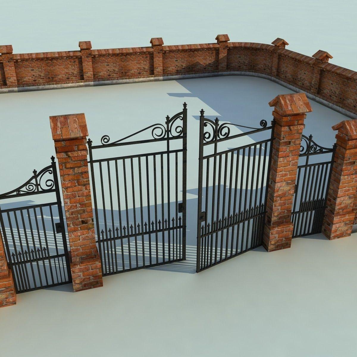 Brick Fence Wall Gate