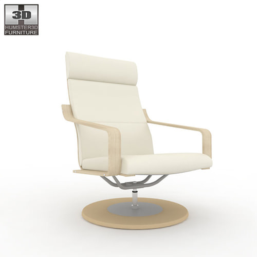 Ikea Poang Chair Measurements ~ IKEA POANG Swivel Armchair 3D Model Game ready max obj fbx c4d