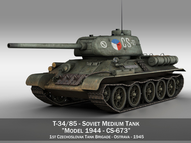 T-34 85 - Soviet medium tank - CS673