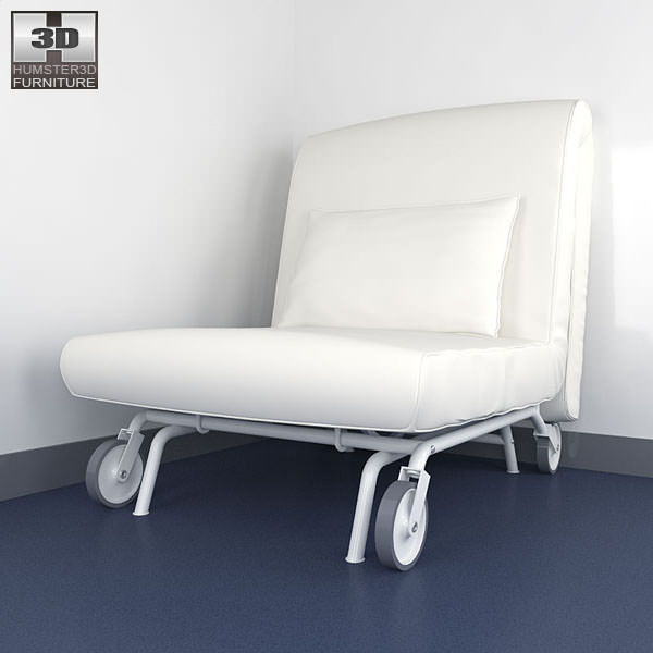 IKEA PS LOVAS ChairBed 3D Model Game ready max obj 3ds