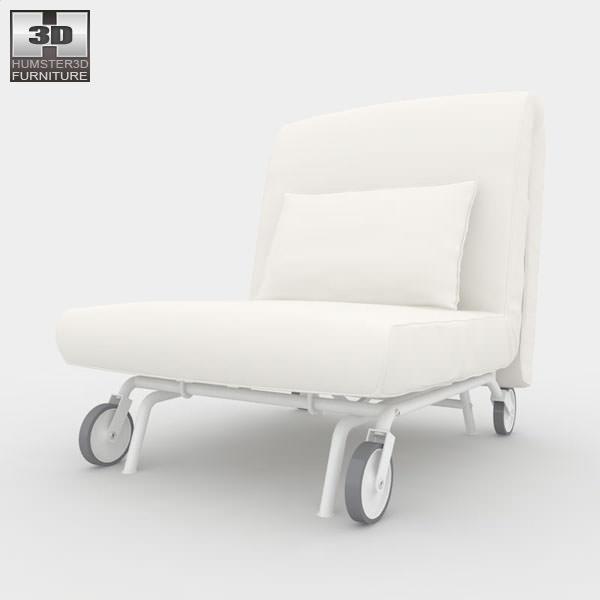 ikea ps lovas chair bed 3d model game ready max obj 3ds fbx c4d lwo lw lws. Black Bedroom Furniture Sets. Home Design Ideas