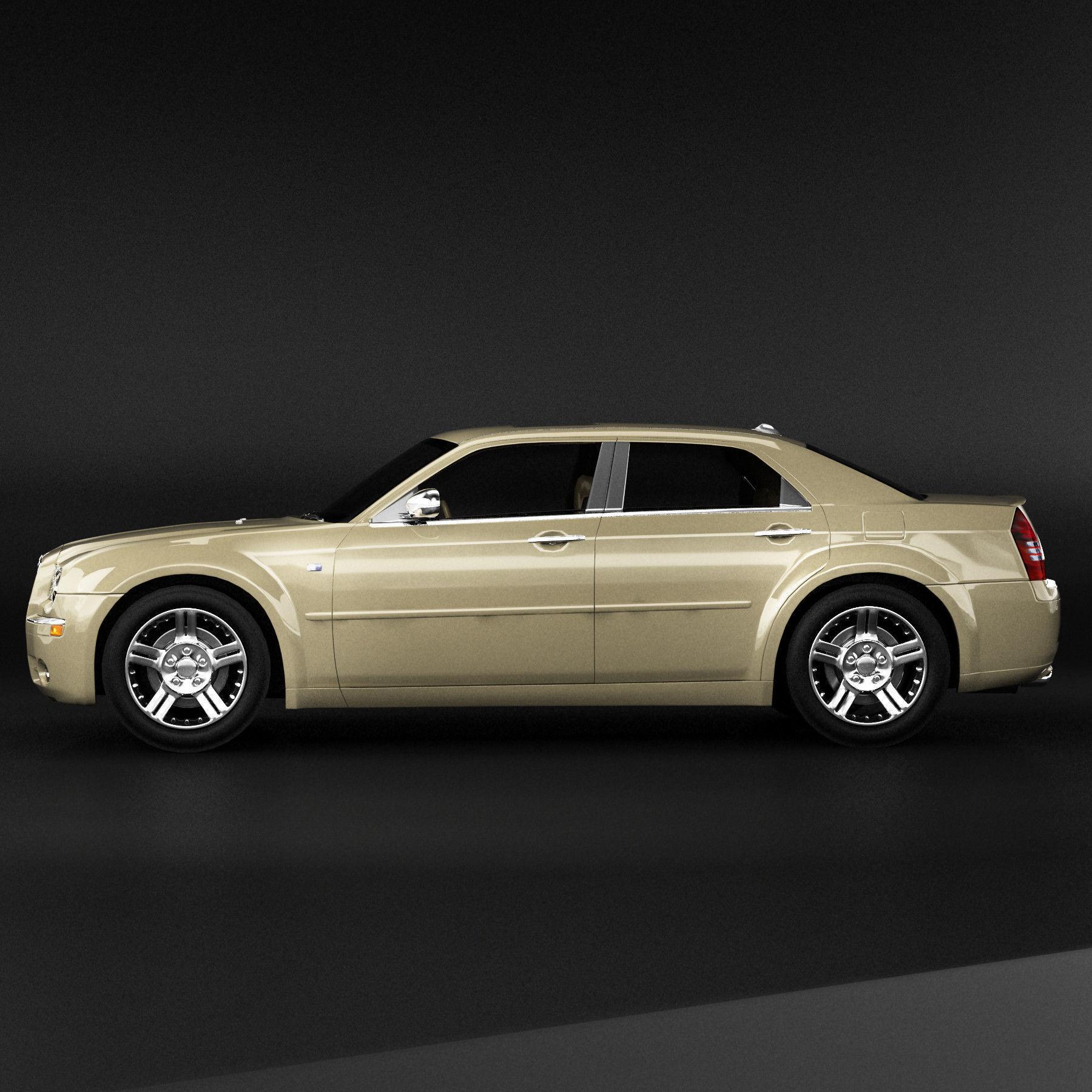 Chrysler 300: Chrysler 300 3D Model MAX OBJ 3DS FBX