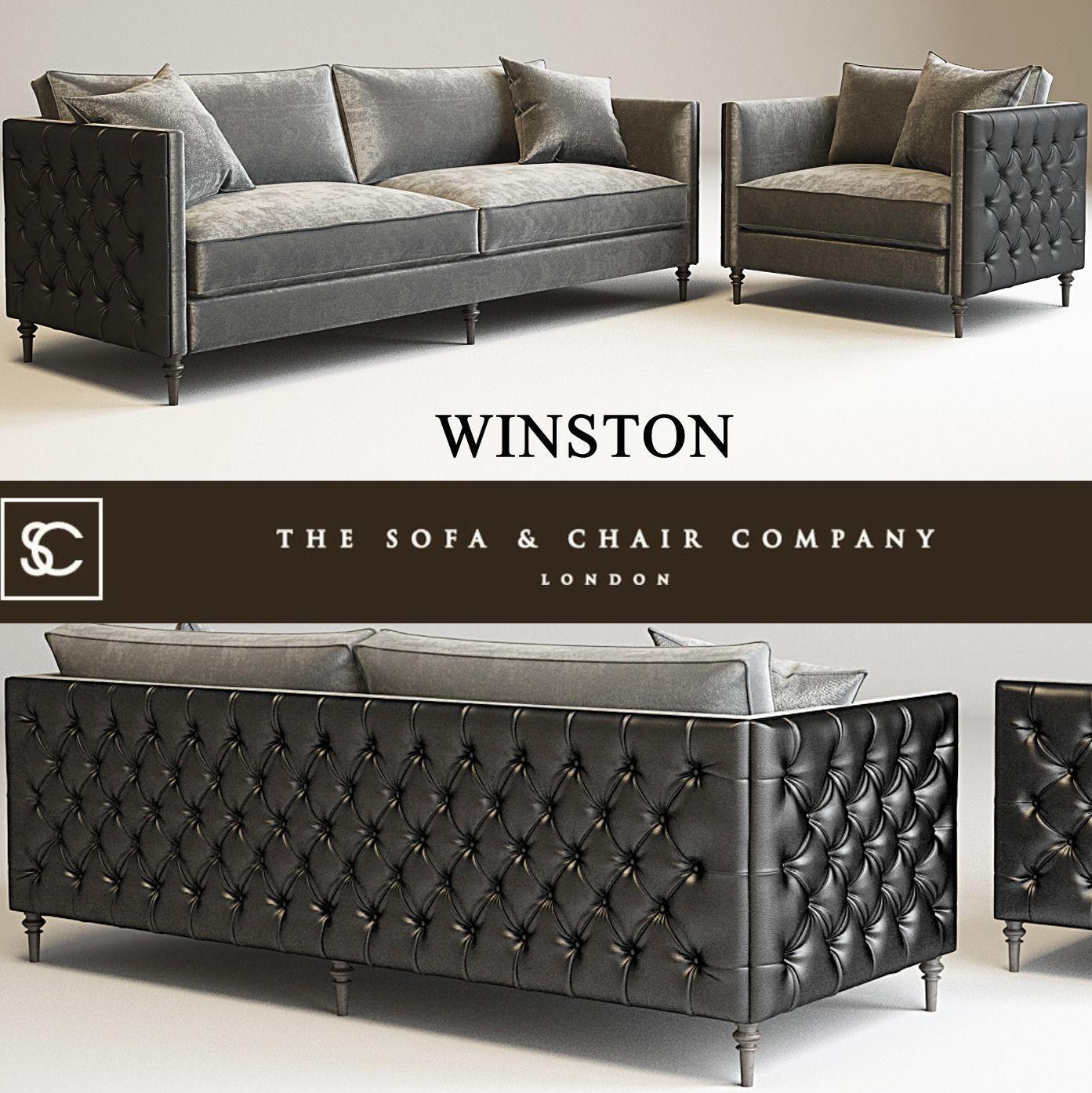 Winston Sofa Model Max Obj Mtl