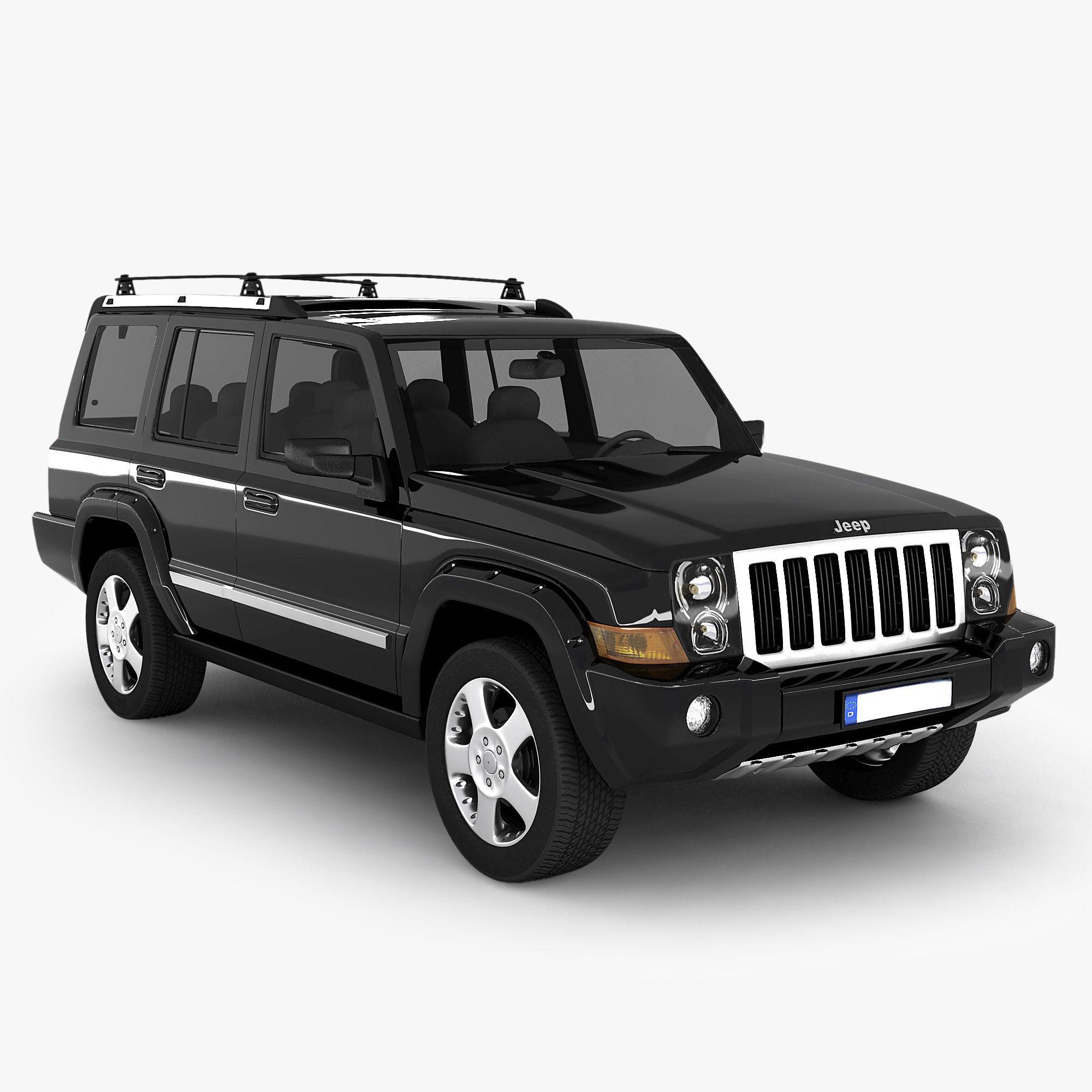jeep commander suv 3d model max obj 3ds. Black Bedroom Furniture Sets. Home Design Ideas