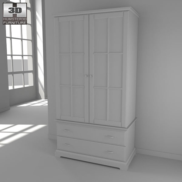 ikea birkeland wardrobe 3d models. Black Bedroom Furniture Sets. Home Design Ideas