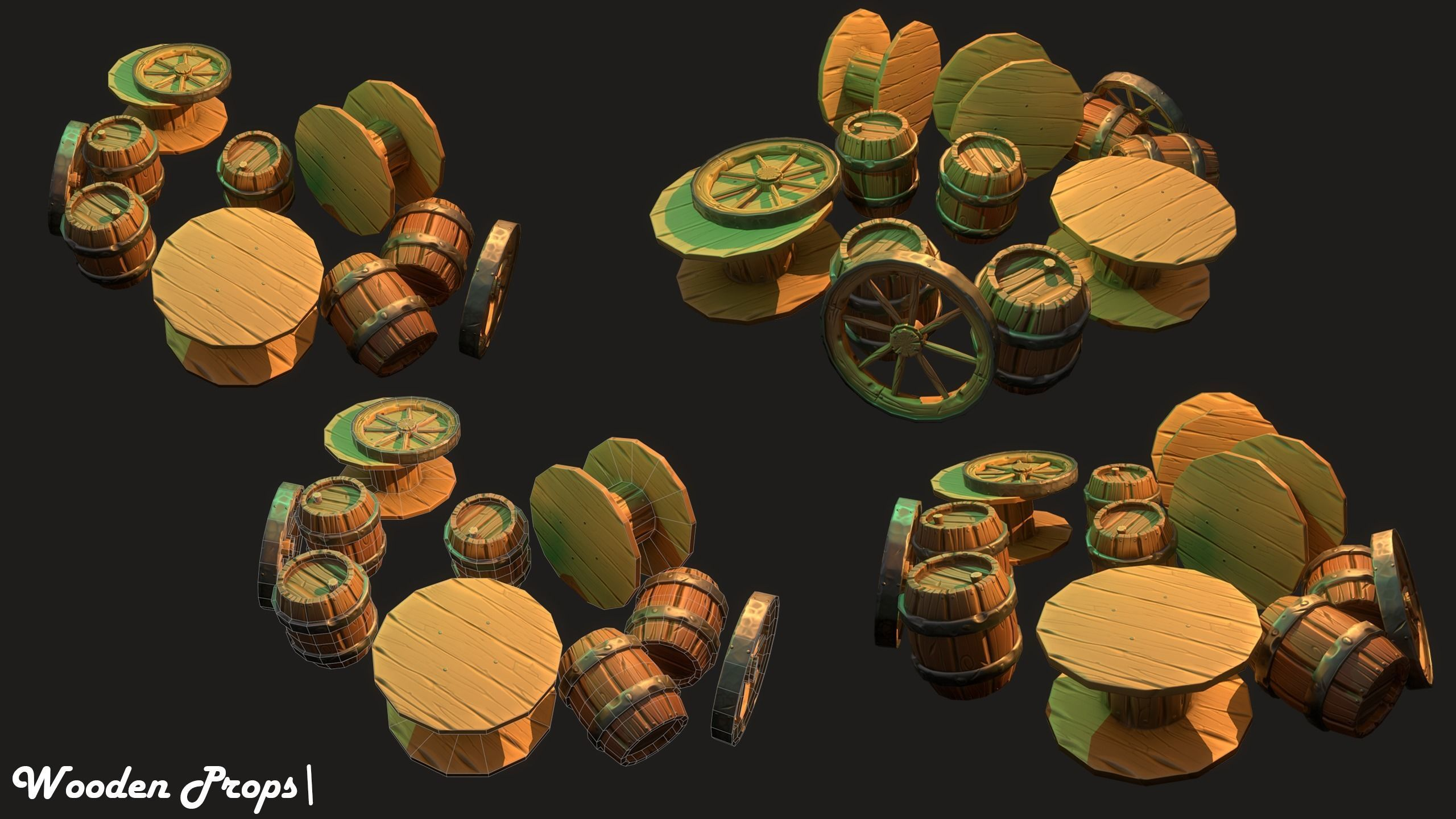 Stylized Wooden Props