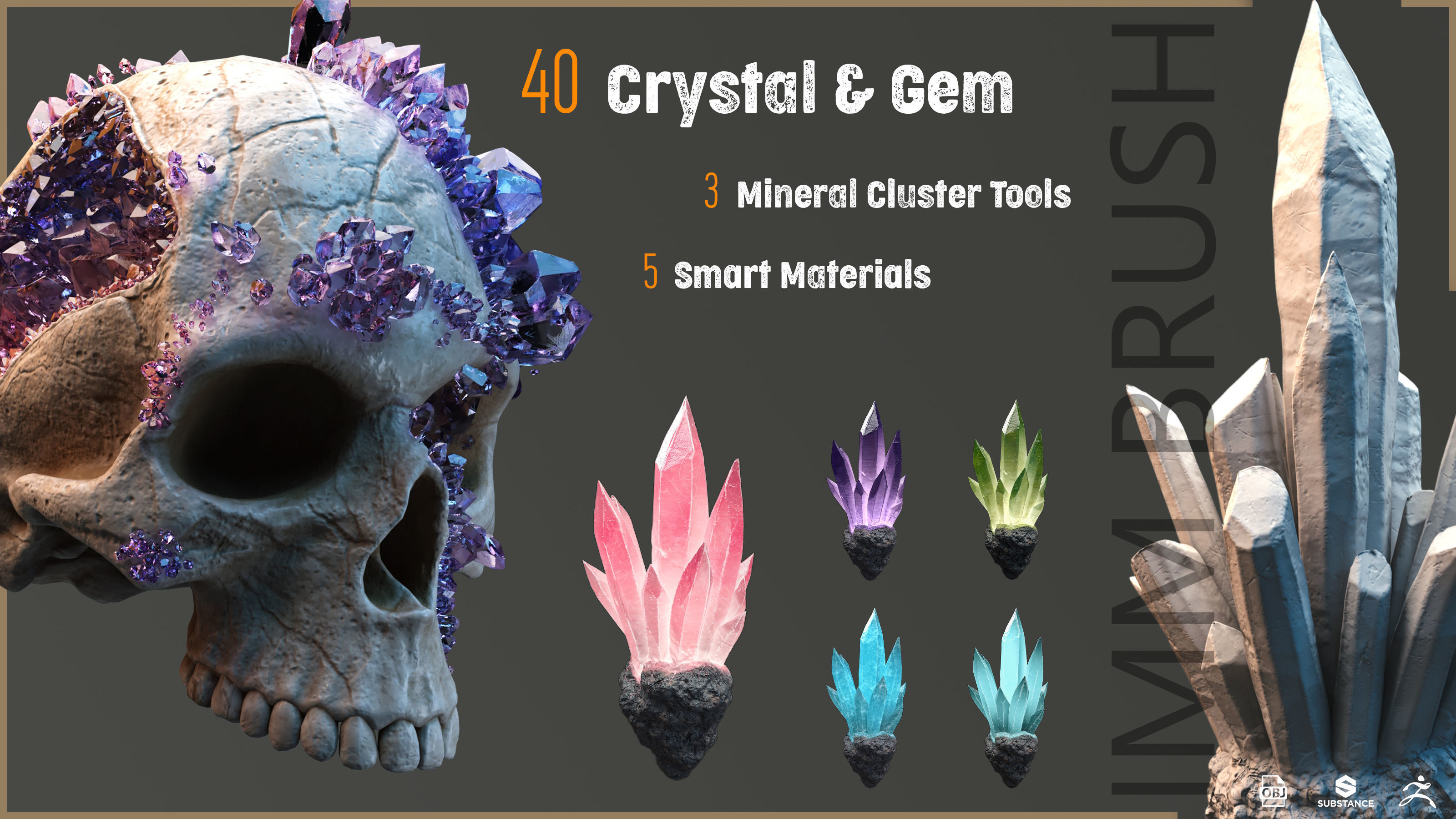 40 crystal and gem imm brush