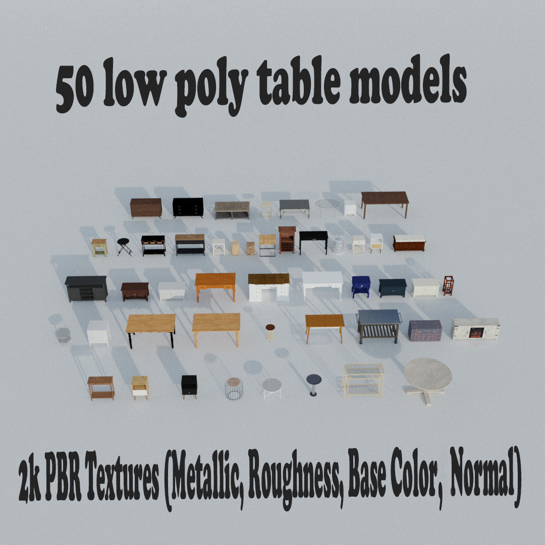 50 Tables pack  for AR
