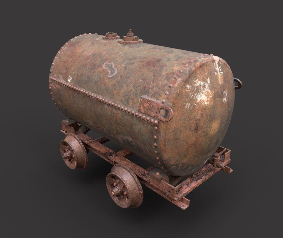 Rusty Oil Tank Railcar