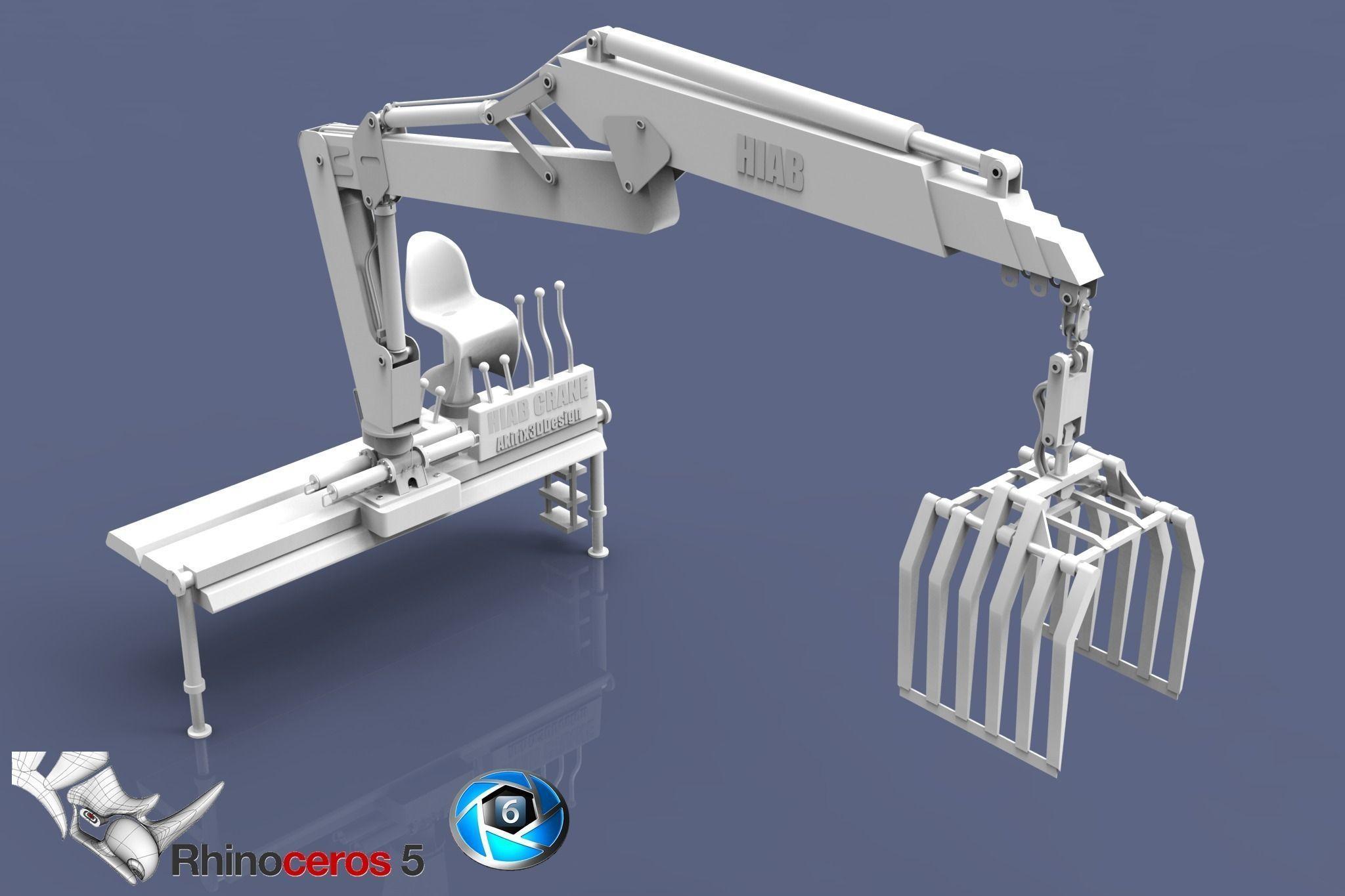 Truck Trader Online >> Hiab Crane Model 3D Model OBJ MTL   CGTrader.com