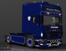Scania 164L 480 V8 3D Model
