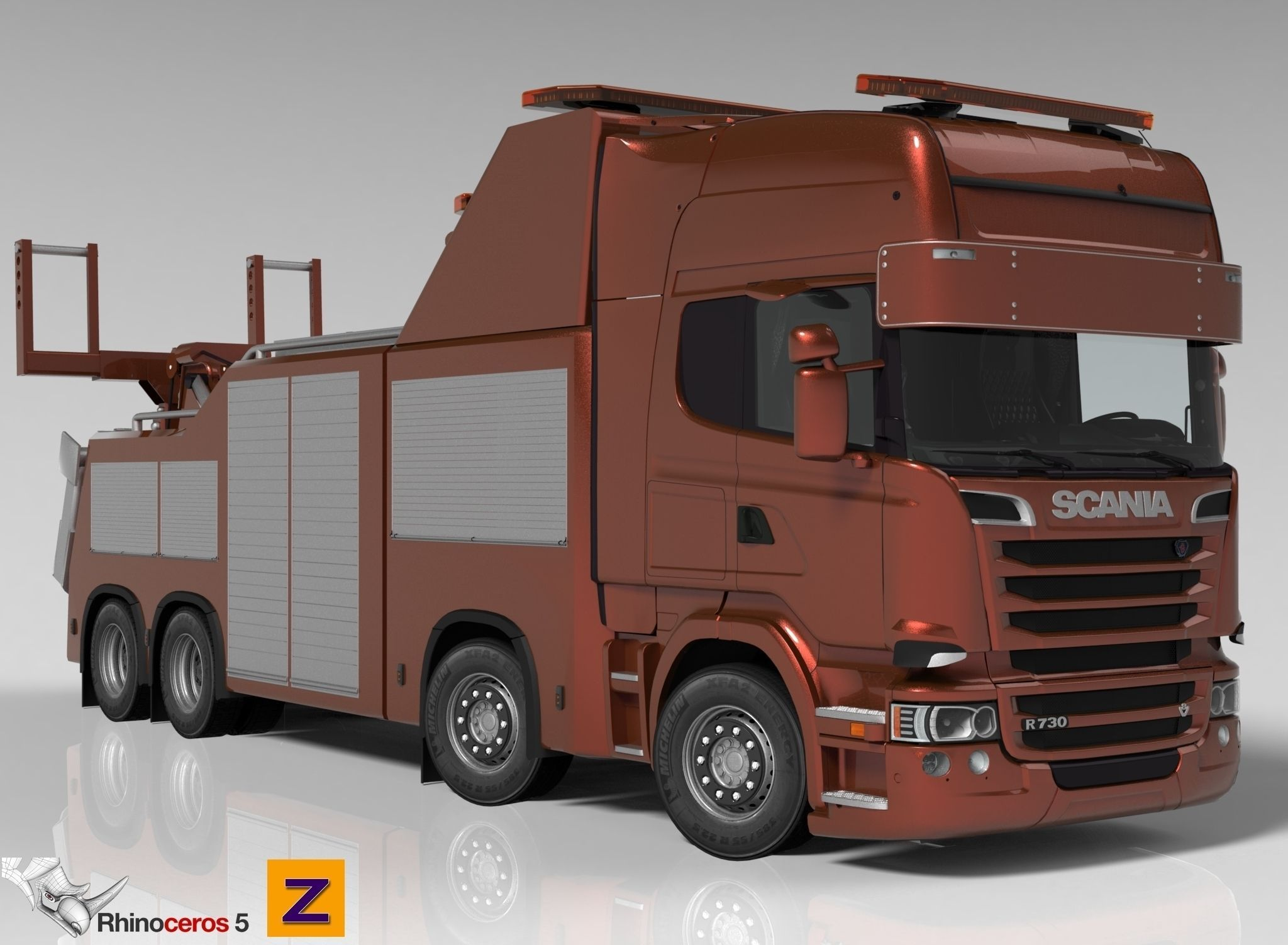3D model Scania R730 Streamline Recovery Wrecker