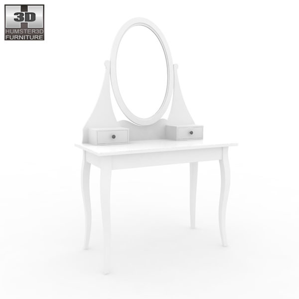 Ikea Schuhschrank Dunkelbraun ~   ikea hemnes dressing table with mirror 3d model ikea hemnes dressing