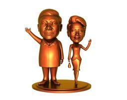 3D print model Xi Jinping couple