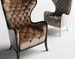 Medea prestige Tufted Chair and 3D printable model