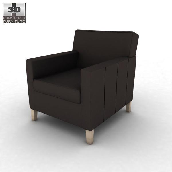 ikea karlstad armchair 3d model game ready max obj 3ds fbx. Black Bedroom Furniture Sets. Home Design Ideas