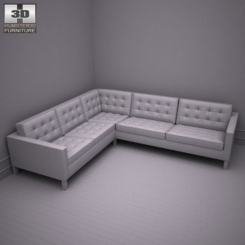 Ikea Karlstad Corner Sofa 3d Model Game Ready Max Obj 3ds Fbx