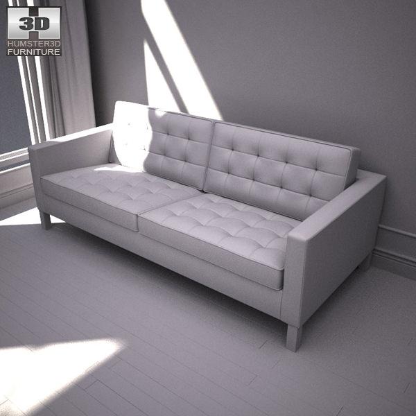 ikea karlstad sofa 3d model game ready max obj 3ds fbx. Black Bedroom Furniture Sets. Home Design Ideas