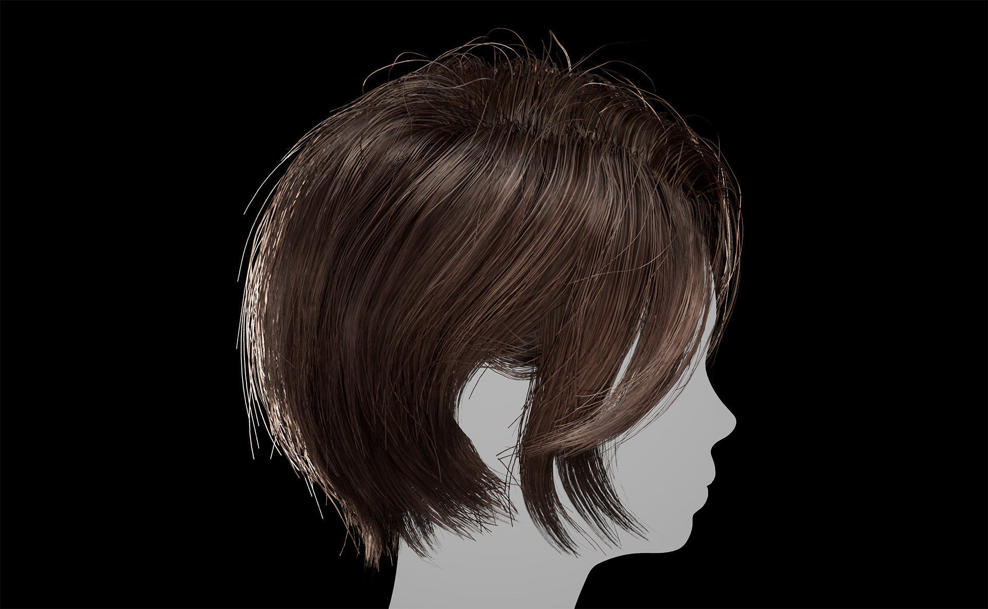 Hair for AAA games Unreal Engine 4 project 1