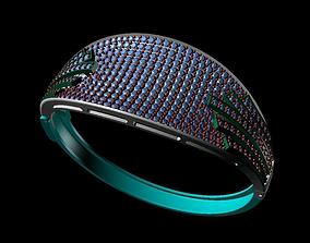 3D print model bracelets cocktail gem