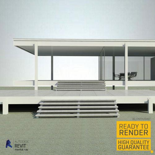 farnsworth house 3d model obj mtl fbx dae dwg rfa rvt 1