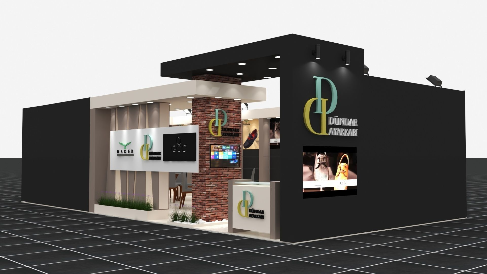 Exhibition Stall Size 12 m x 6 m  Height 300 cm