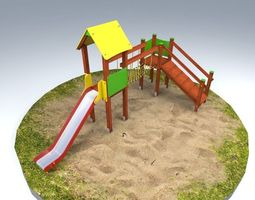 3d model playground house