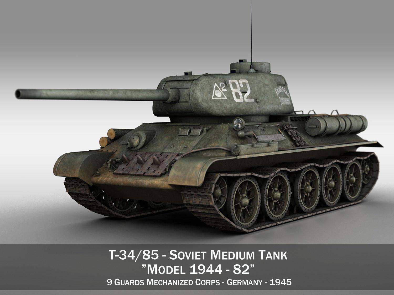T-34 85 - Soviet medium tank - 82