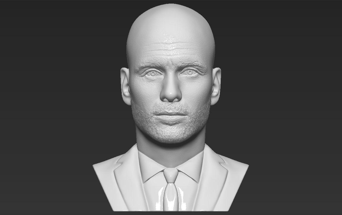 Pep Guardiola bust 3D printing ready stl obj formats