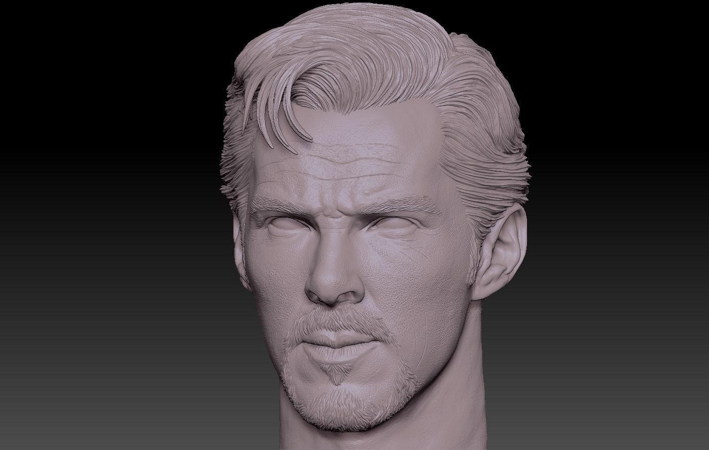 Doctor Strange head Benedict Cumberbatch
