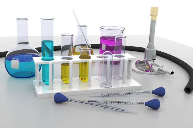 chemistry lab equipment 3d model cgtrader