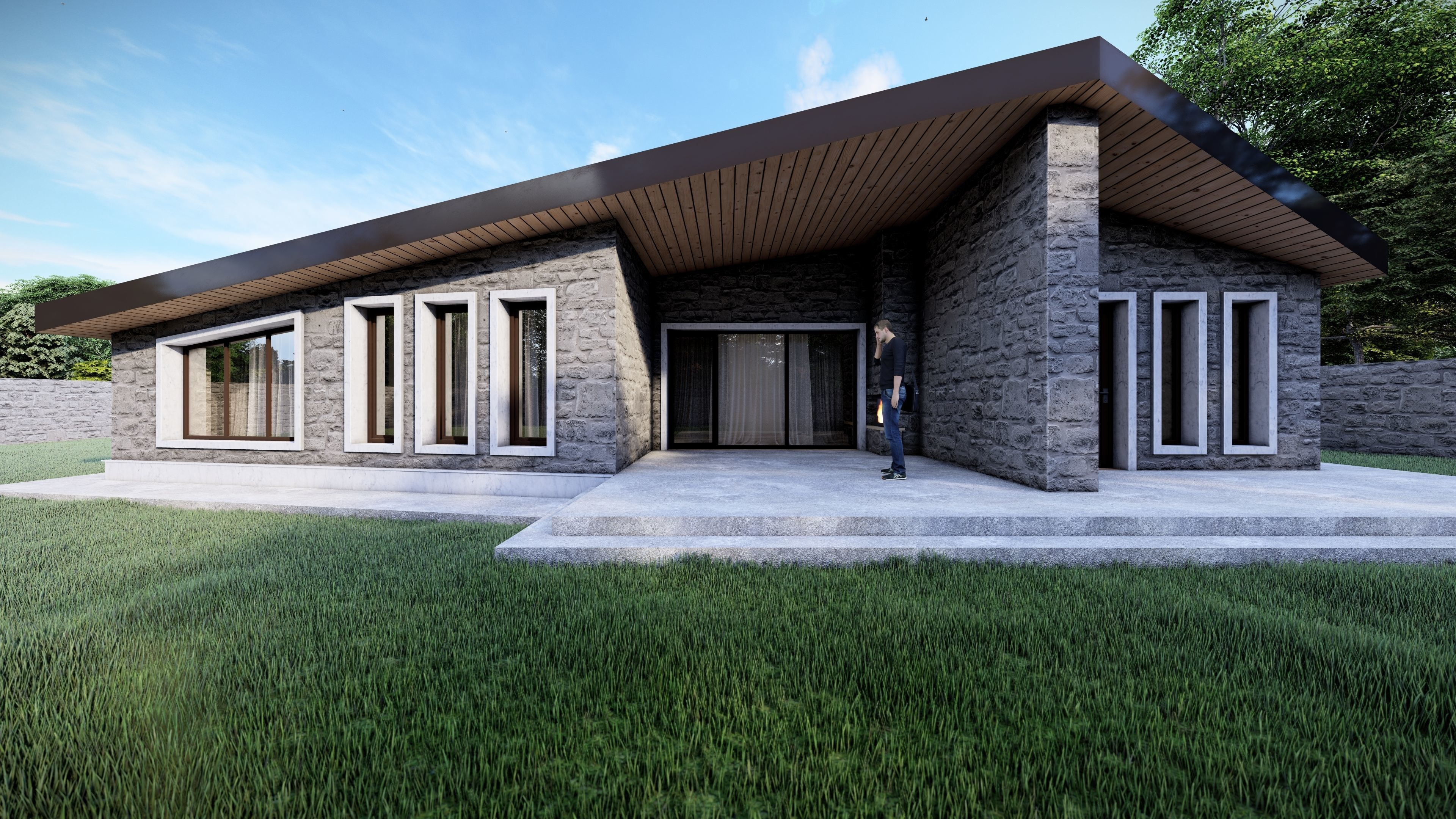 Stone House - Single Story Residential Building