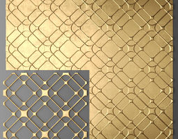 3d model panel lattice grille 14