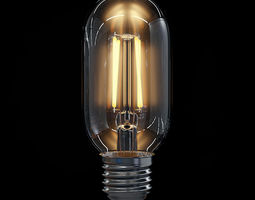 LED Filament Bulb 01 3D Model