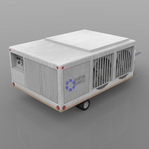 Aircraft Cooling Units : Aircraft air conditioning unit truck d model obj