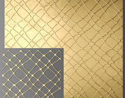 Panel lattice grille 3D perforated
