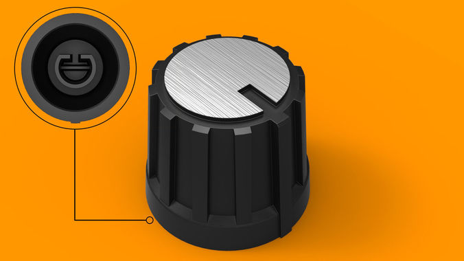Potentiometer Knob 6mm 3d Printable Model Cgtrader