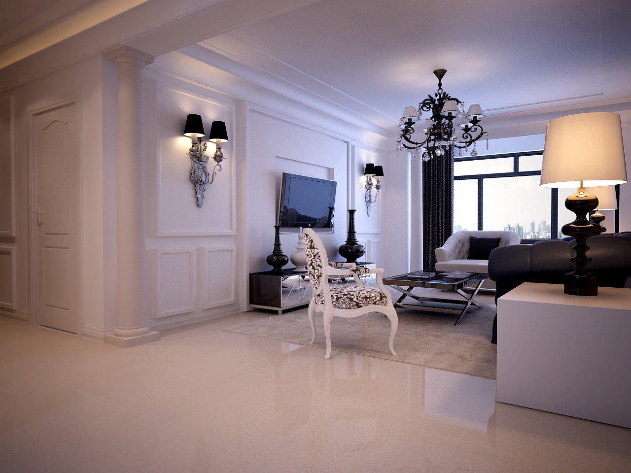 Light Living Room 3d Model Max