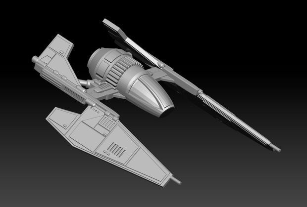 28mm Scale Ancient Starfighter