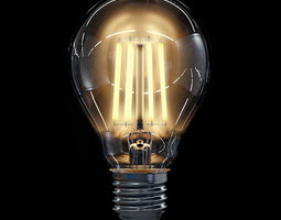 LED Filament Bulb 02 3D Model