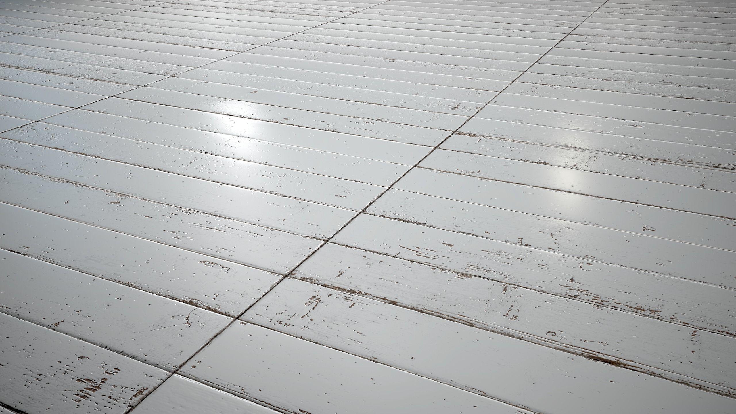White Painted stackbond parquet - PBR textures