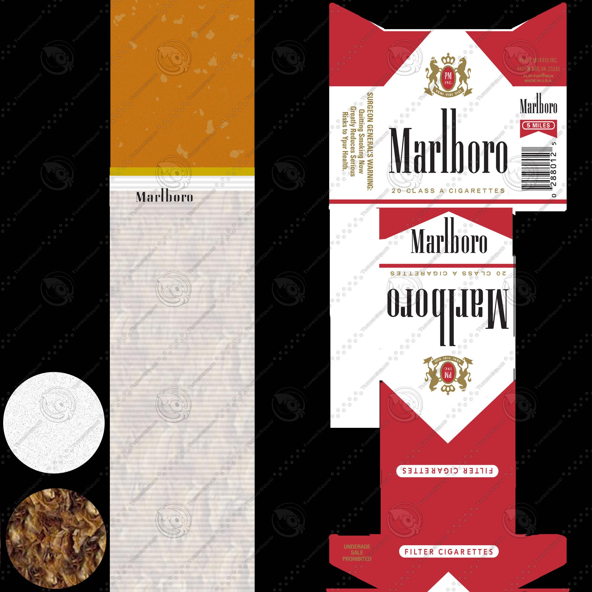 Marlboro Cigarette Pack V2 3d Model Max Obj C4d Cgtrader Com