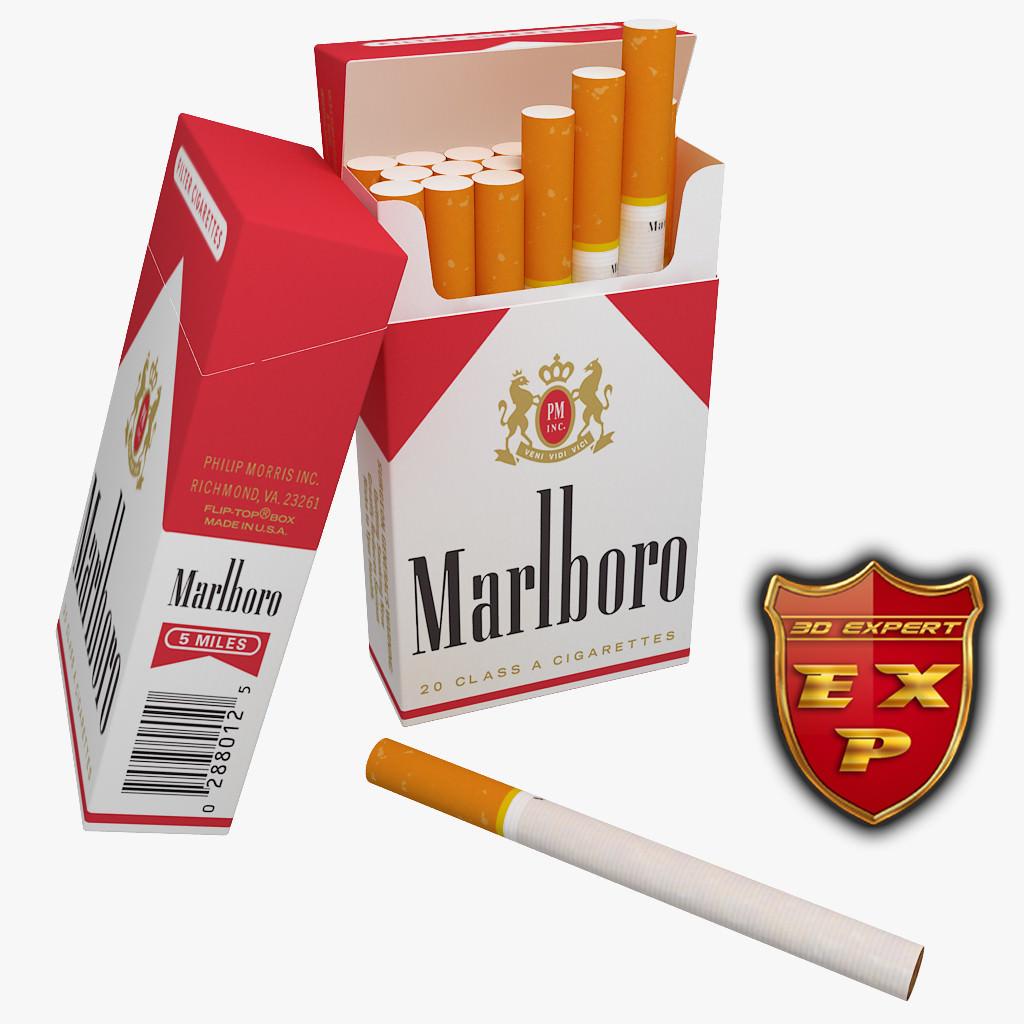 Marlboro Cigarette Pack V2 3d Model Max Obj C4d