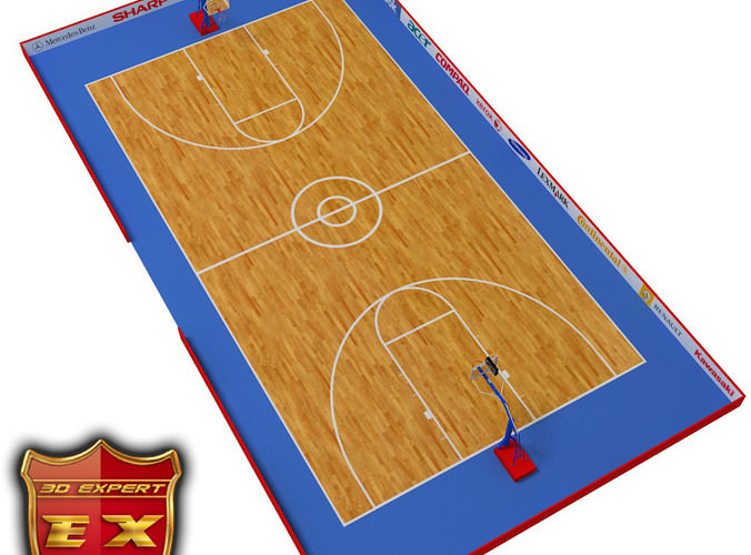 Basketball court3D model