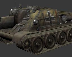 SU 122 tank 3D Model