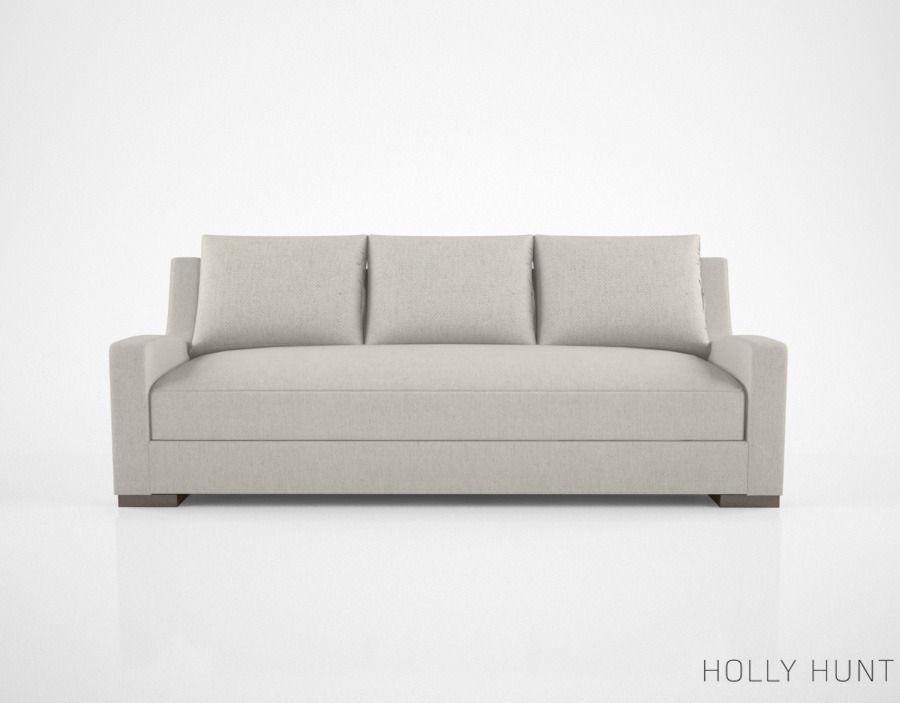 Holly Hunt Lisbon Sofa Model Max Obj Mtl Fbx 1
