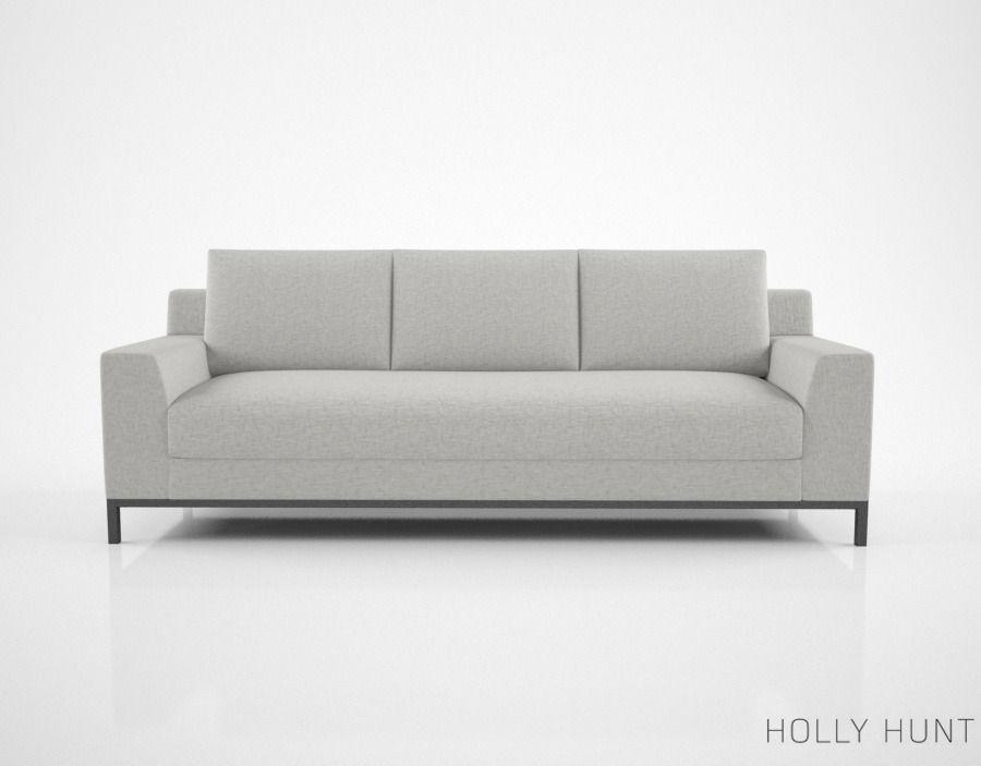 Holly Hunt Caspian Sofa Free 3d Model Max