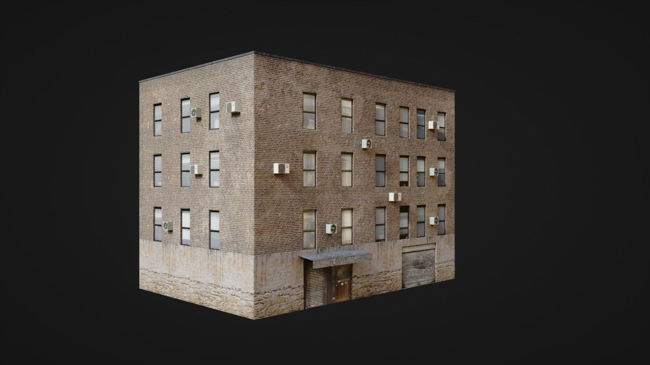 Building low poly street